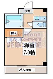 大阪府大阪市生野区桃谷2の賃貸マンションの間取り
