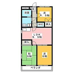 マンション大山[1階]の間取り