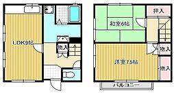 [タウンハウス] 滋賀県守山市吉身5丁目 の賃貸【滋賀県 / 守山市】の間取り