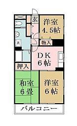 ニュー浅井マンション[201号室]の間取り