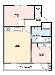 吹東マンション[3階]の間取り