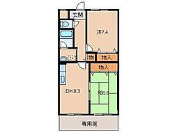 ニューライスマンション[1階]の間取り