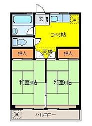 フラワーハイツ3[3階]の間取り