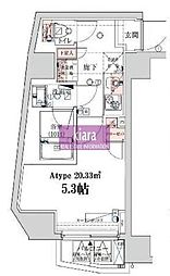 ベルシード横濱ウエスト[6階]の間取り