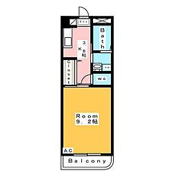 エムワンクルーズ東浅井[1階]の間取り