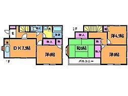 [一戸建] 東京都調布市富士見町1丁目 の賃貸【/】の間取り