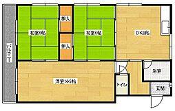仲野マンション[2階]の間取り