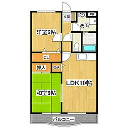 アライマンション[4階]の間取り