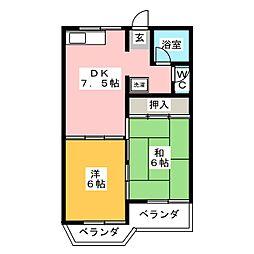 瑞穂レジデンス[2階]の間取り