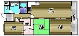 ファミリープラザ泉北光明池3番館[5階]の間取り