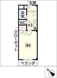 エル・K・M[3階]の間取り