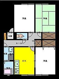 サンビレッジクラモチ[C101号室]の間取り