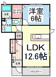 長野県長野市新諏訪1の賃貸アパートの間取り