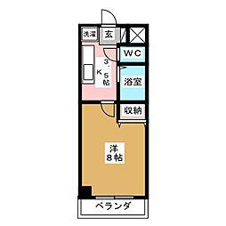 パルグランドマンション[5階]の間取り