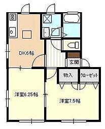 コートサンキュー[1階]の間取り