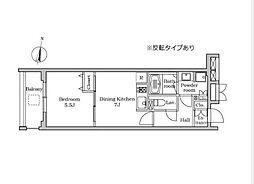 東京都大田区千鳥2丁目の賃貸マンションの間取り