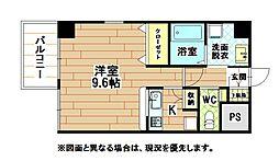 福岡県北九州市小倉北区真鶴1丁目の賃貸マンションの間取り