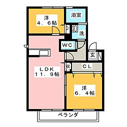 H・翔 ひまわり館[2階]の間取り
