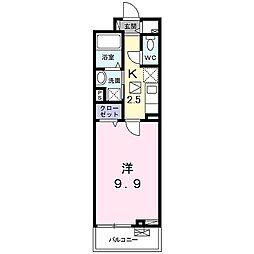 山陽電鉄本線 手柄駅 徒歩14分の賃貸アパート 2階1Kの間取り