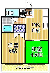 アドべ93[3階]の間取り
