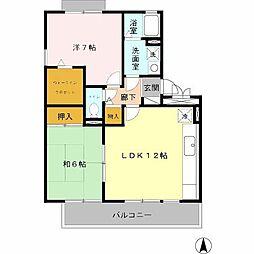 カーサフェリスA棟[1階]の間取り