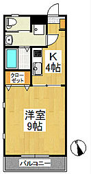 メープルコートI[1階]の間取り