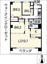CORTILE MARUFUKU[2階]の間取り
