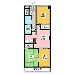 ルミナスKM[1階]の間取り