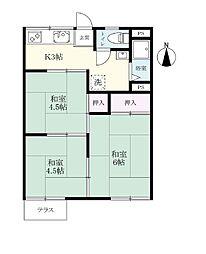 三間寺オークハウス[106号室]の間取り