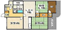 大翔第一ビル[504号室]の間取り