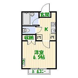 パルク・ステューディオA[2階]の間取り