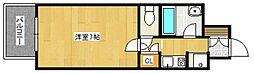 ドミエスポワール久留米III[2階]の間取り