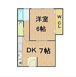 大上マンション[4階]の間取り