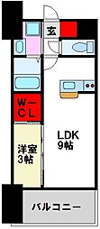 LIFEFIELD二日市駅前 8階1LDKの間取り
