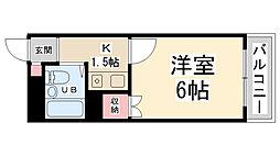 シャトー栄根II[4階]の間取り