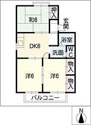 コーポシオン B棟[2階]の間取り