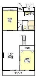 セントリアファースト[3階]の間取り