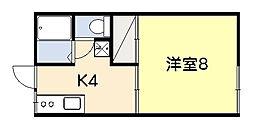ファミーユ吉野[203号室]の間取り