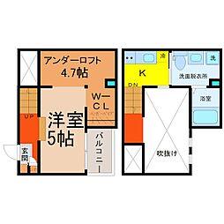 愛知県名古屋市守山区大永寺町の賃貸アパートの間取り