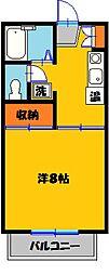 栃木県宇都宮市三番町の賃貸アパートの間取り