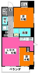 ParkAxis東十条[9階]の間取り