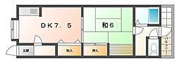 太子橋ハイツ[2階]の間取り