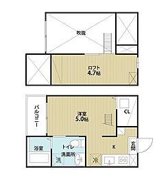 愛知県名古屋市南区道徳新町3丁目の賃貸アパートの間取り