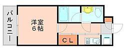 福岡県福岡市博多区諸岡5の賃貸マンションの間取り