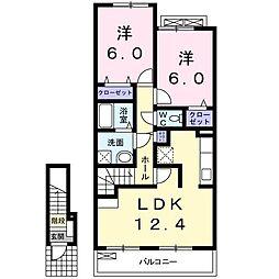 クレードル[2階]の間取り