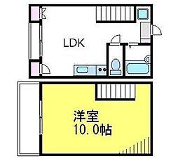 東京都杉並区桃井1丁目の賃貸アパートの間取り