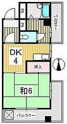 コーポ小見野(坂戸)[0201号室]の間取り