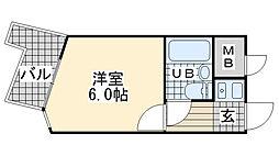 ライオンズマンション神戸元町第2[509号室]の間取り