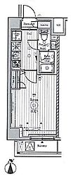 京急本線 梅屋敷駅 徒歩10分の賃貸マンション 2階1Kの間取り