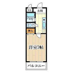 コート姫島[201号室]の間取り